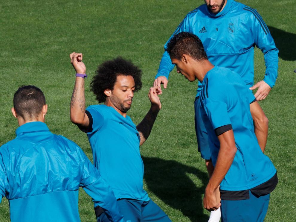 Marcelo durante un entrenamiento