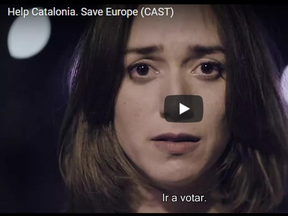 Captura de pantalla del vídeo 'Help Catalonia. Save Europe'.