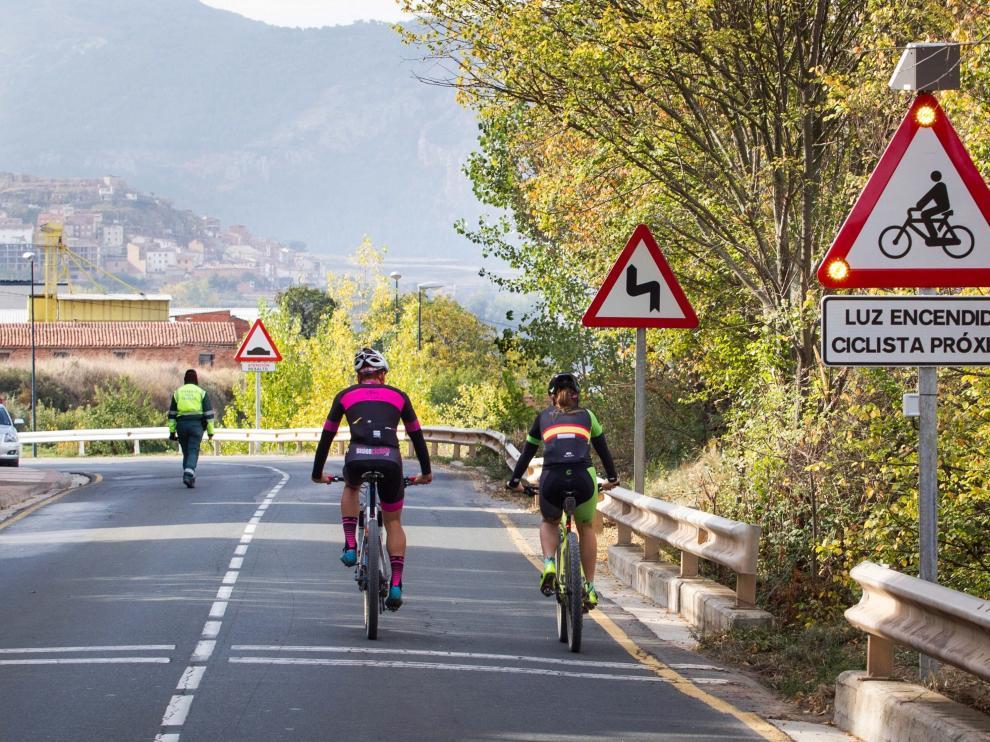 Esta experiencia piloto se ha instalado en La Rioja, donde se han puesto 16 señales de este tipo.