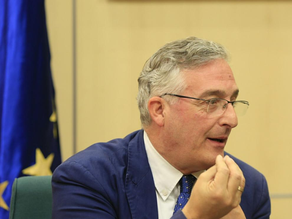 El consejero de Desarrollo Rural del Gobierno de Aragón, Joaquín Olona.