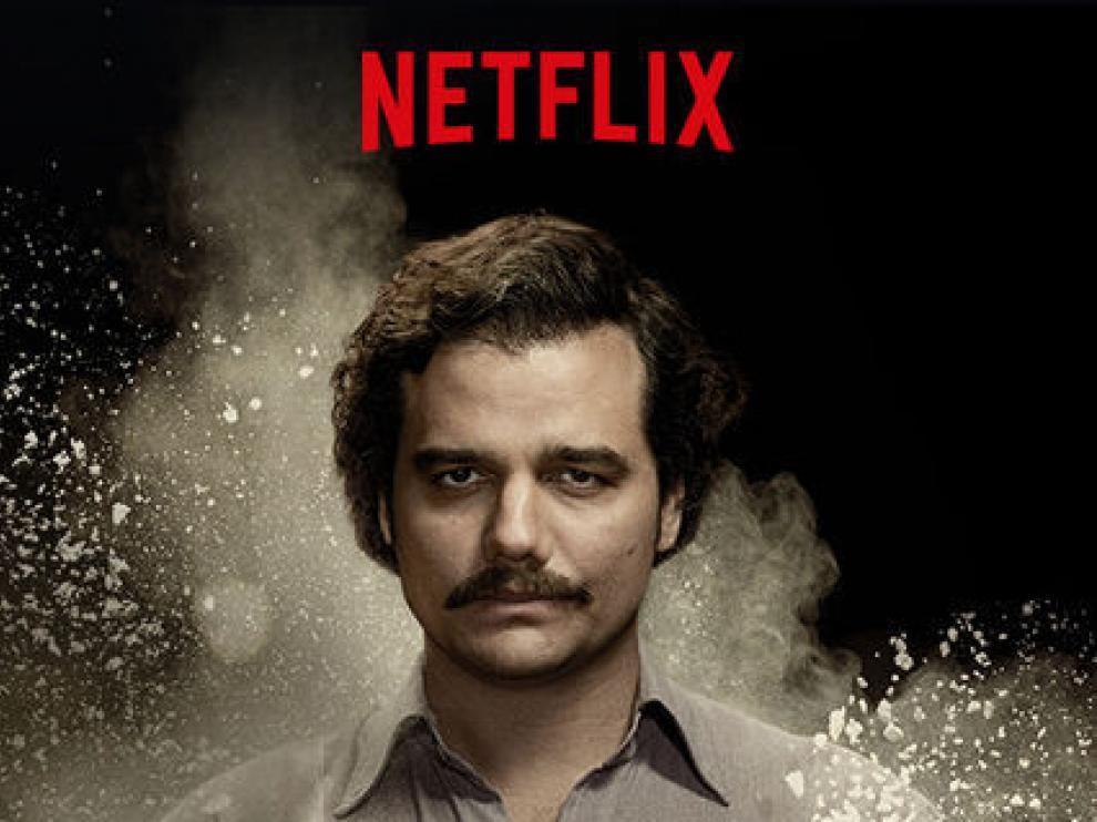 Cartel de la serie 'Narcos' de Netflix.