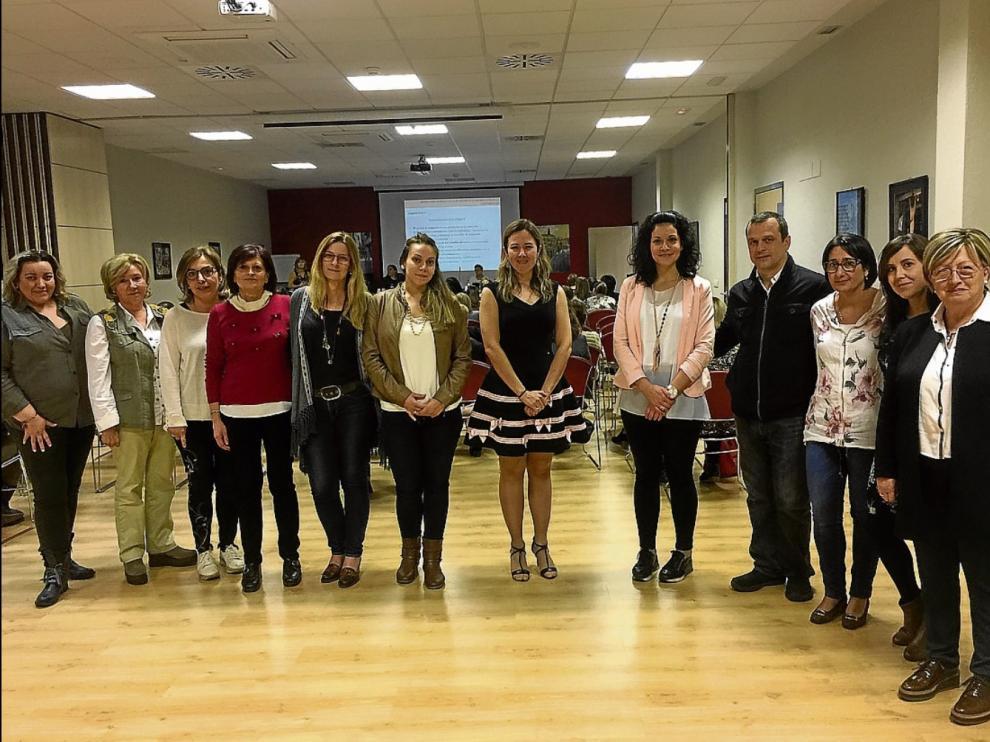 Miembros de la comisión de Cuidados Paliativos, en la celebración del congreso.