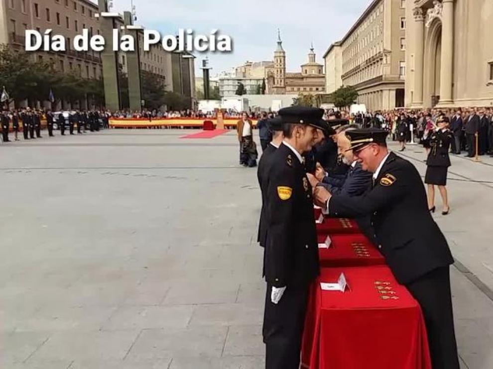 Zaragoza celebra el día de la Policía