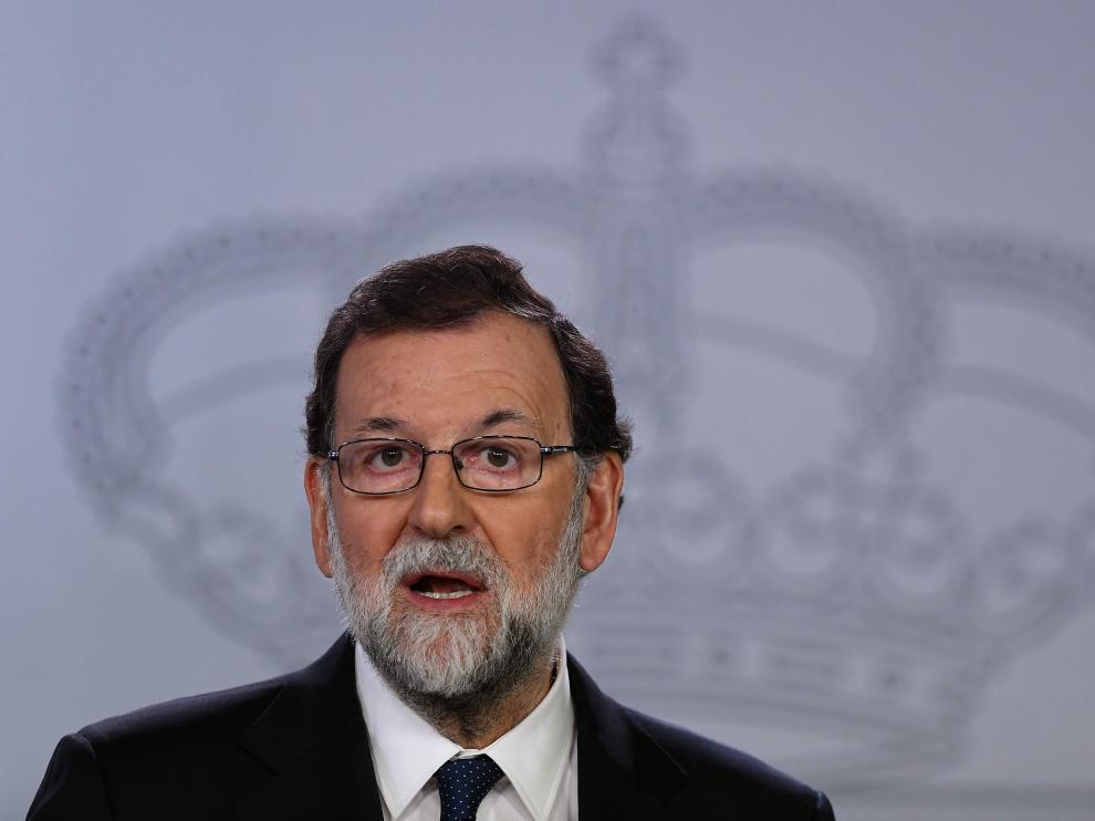 Mariano Rajoy, durante su comparecencia