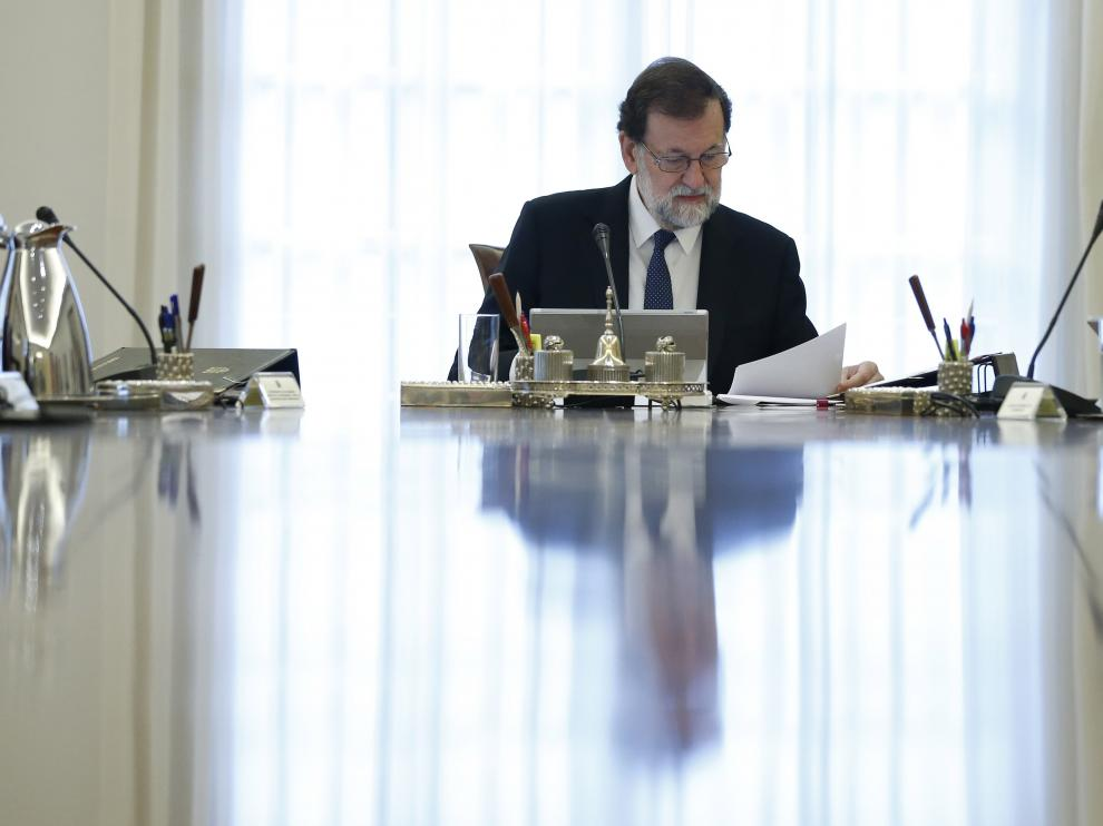 Rajoy preside el Consejo de Ministros Extraordinario