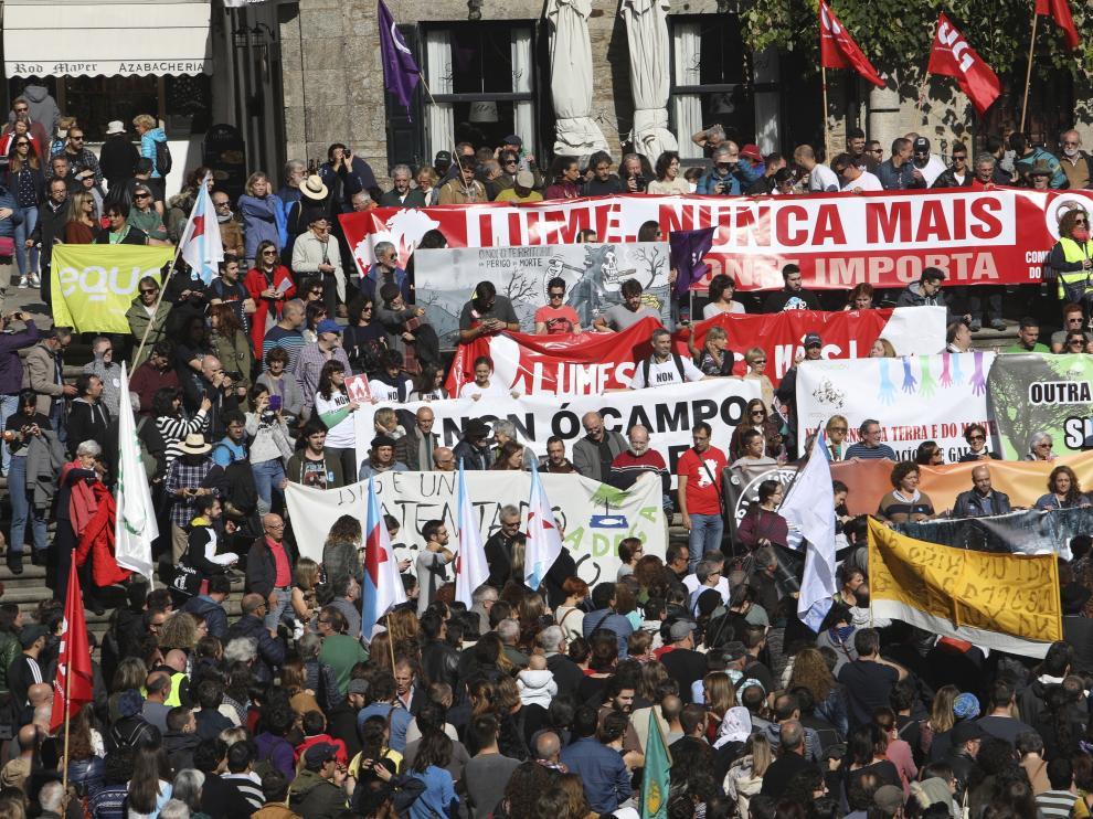 Marcha contra los incendios en Galicia