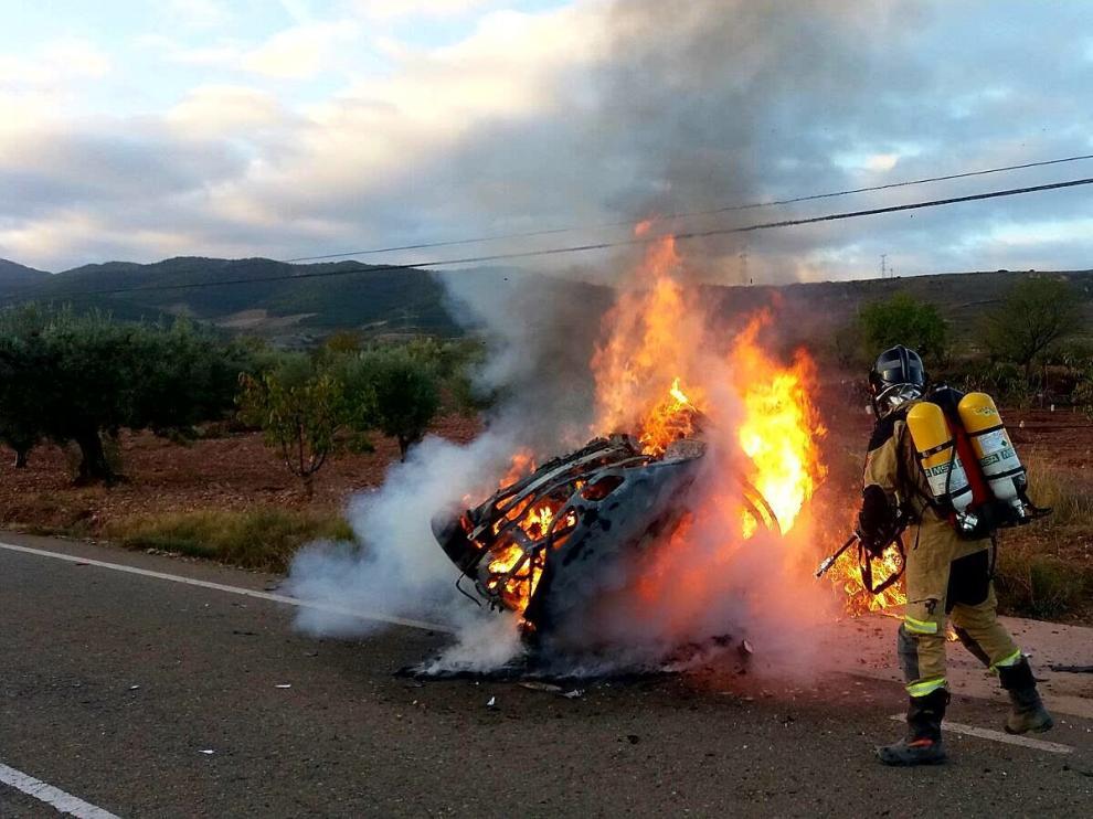 Dos heridos en dos accidentes de tráfico en la provincia de Zaragoza