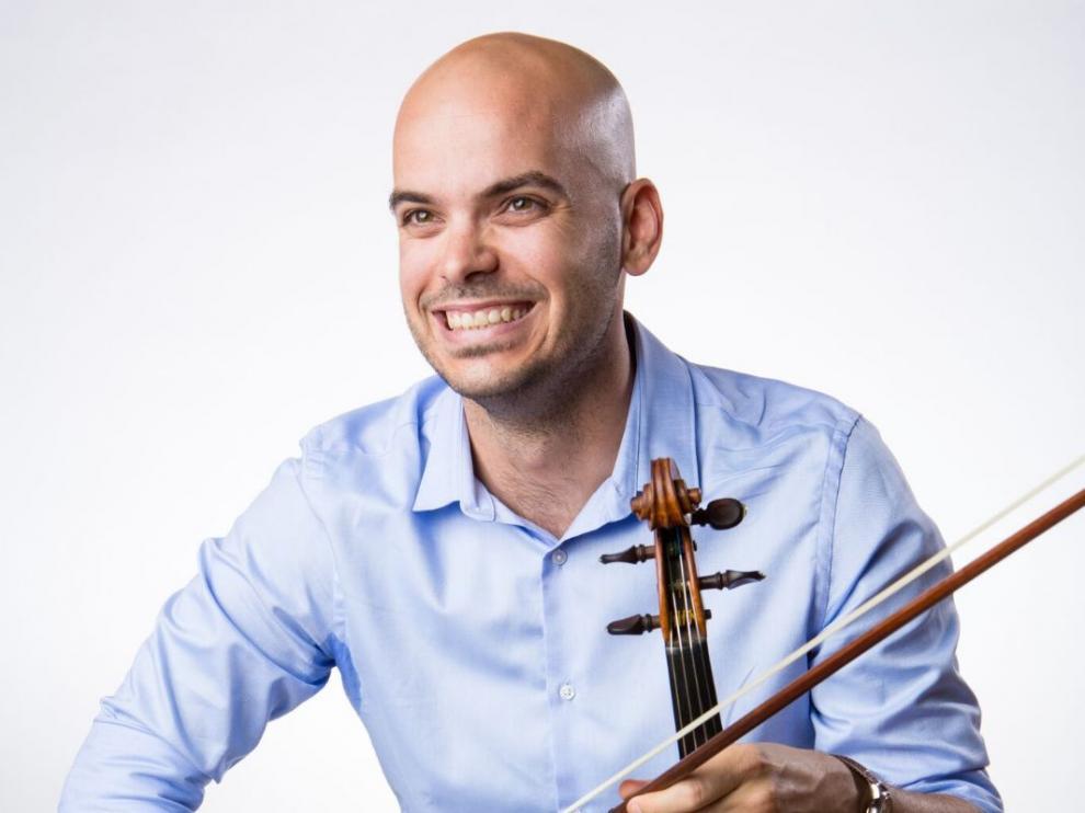 El violinista zaragozano Diego Gabete