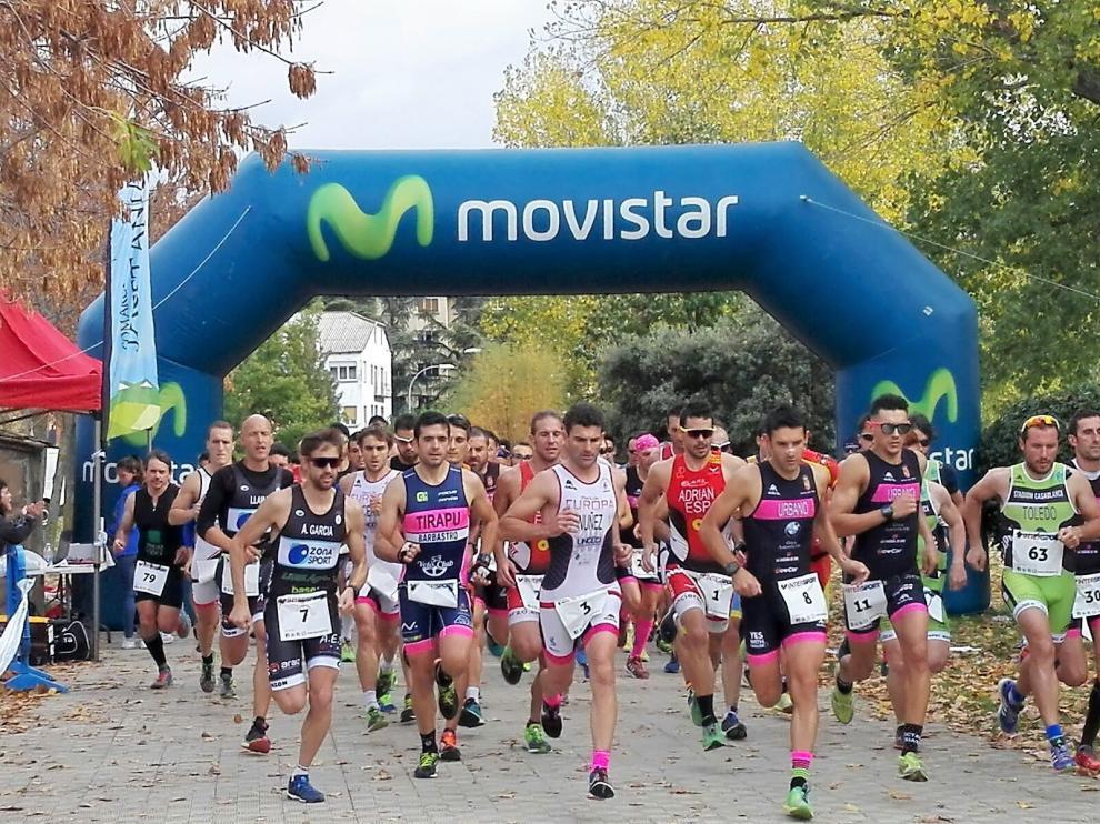Salida de la prueba absoluta del XXI Trofeo Mayencos