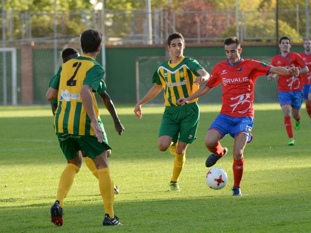 Un lance del juego en el encuentro disputado ayer en Pinilla.