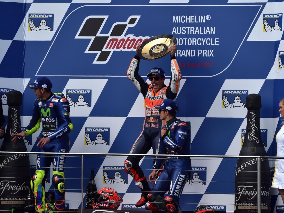 Marc Márquez se ha hecho con el podio en Australia