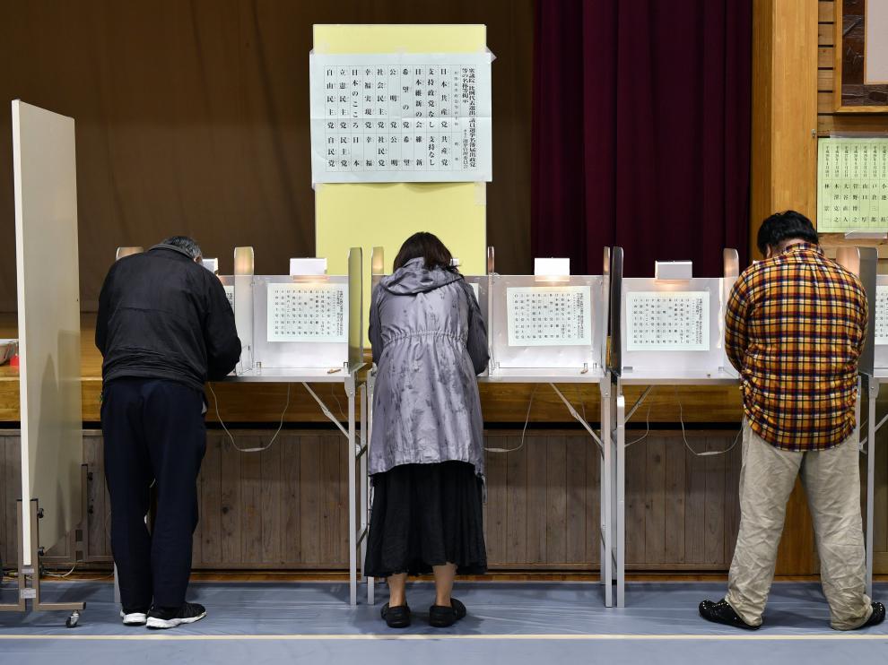 Los japoneses celebran hoy una jornada electoral