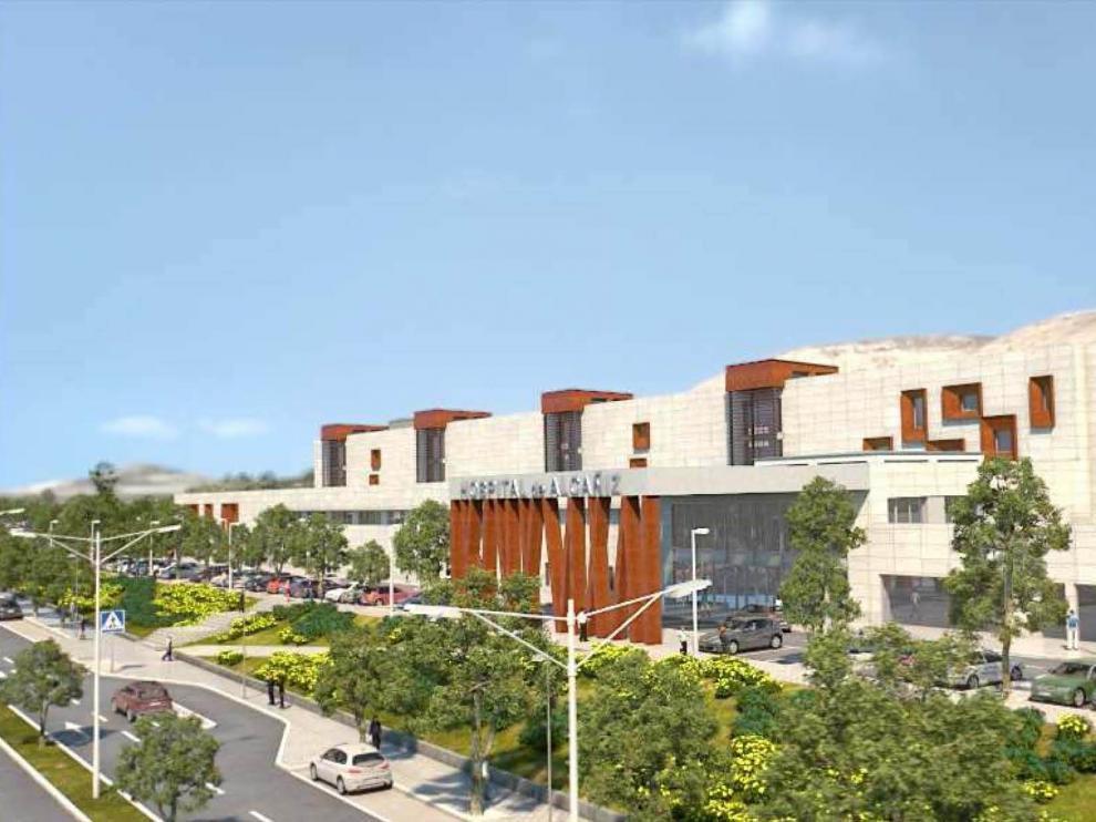 Recreación infográfica del nuevo centro hospitalario, que será cuatro veces mayor que el actual.