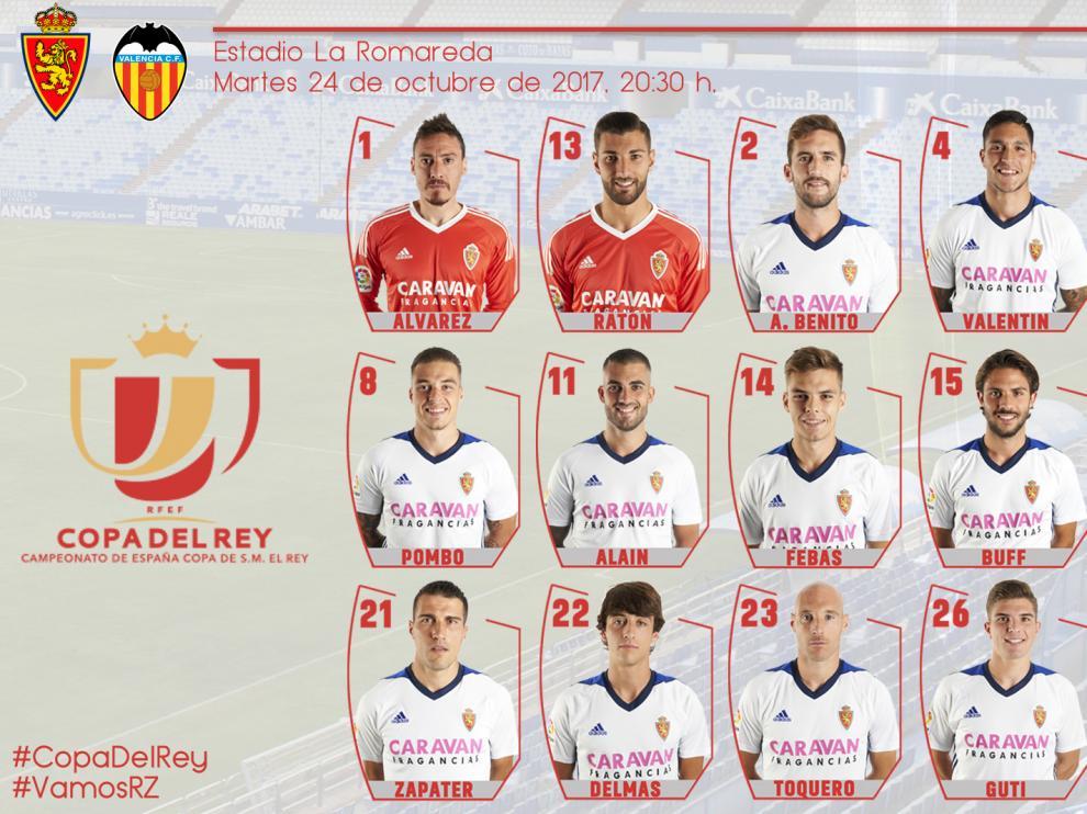 18 convocados para el partido contra el Valencia.