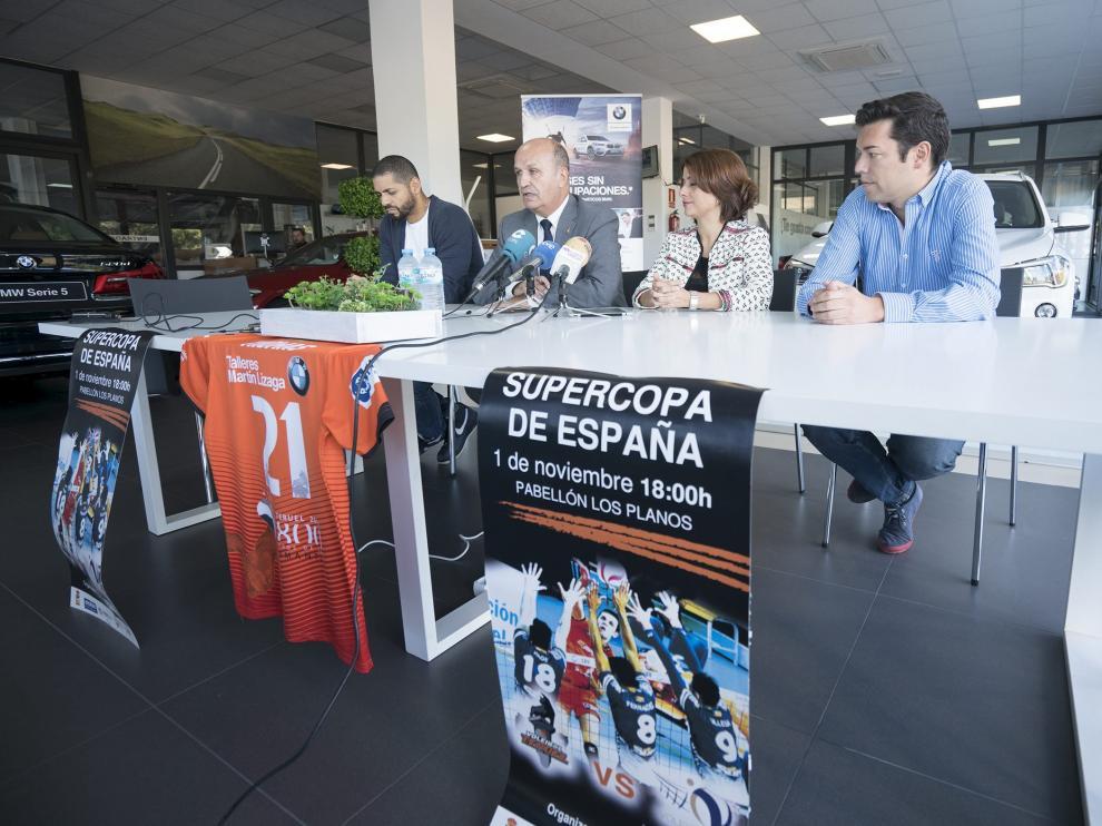 Presentación de la Supercopa este lunes en Teruel.