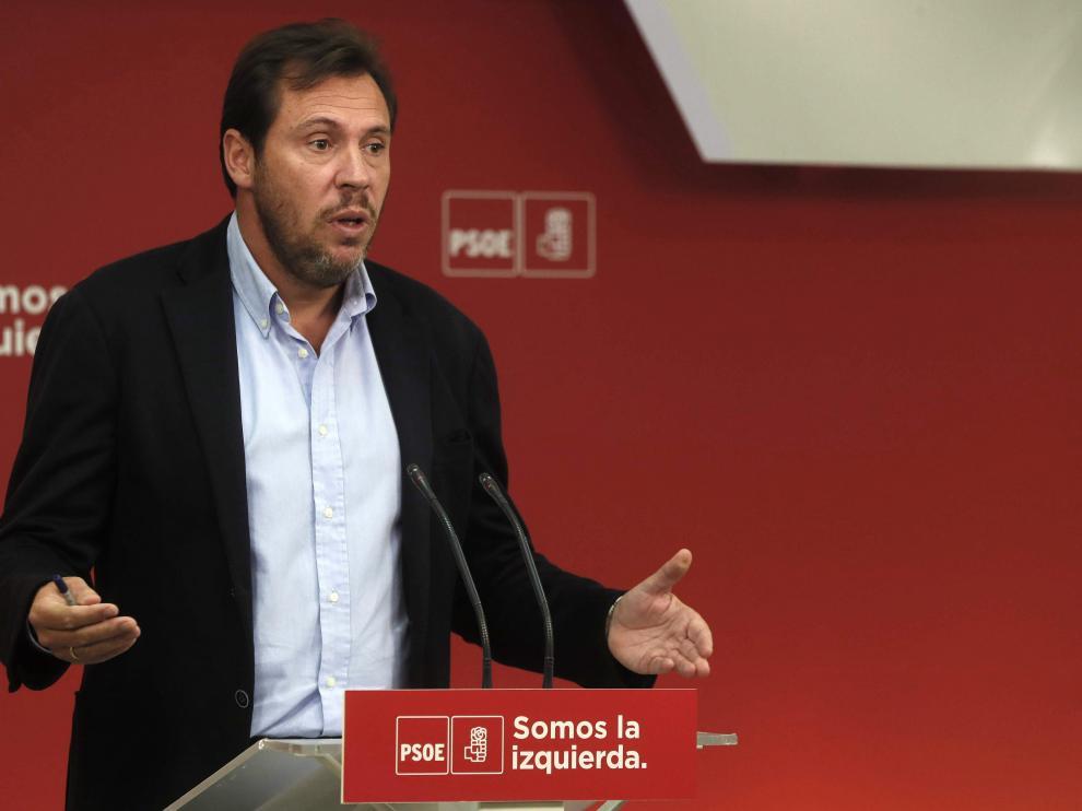 El portavoz de la ejecutiva del PSOE, Óscar Puente.