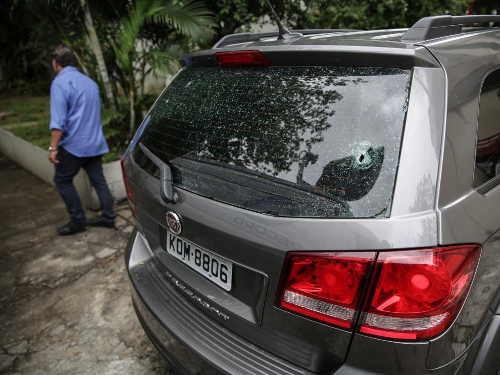 Estado en el que quedó el vehículo en el que viajaba la víctima