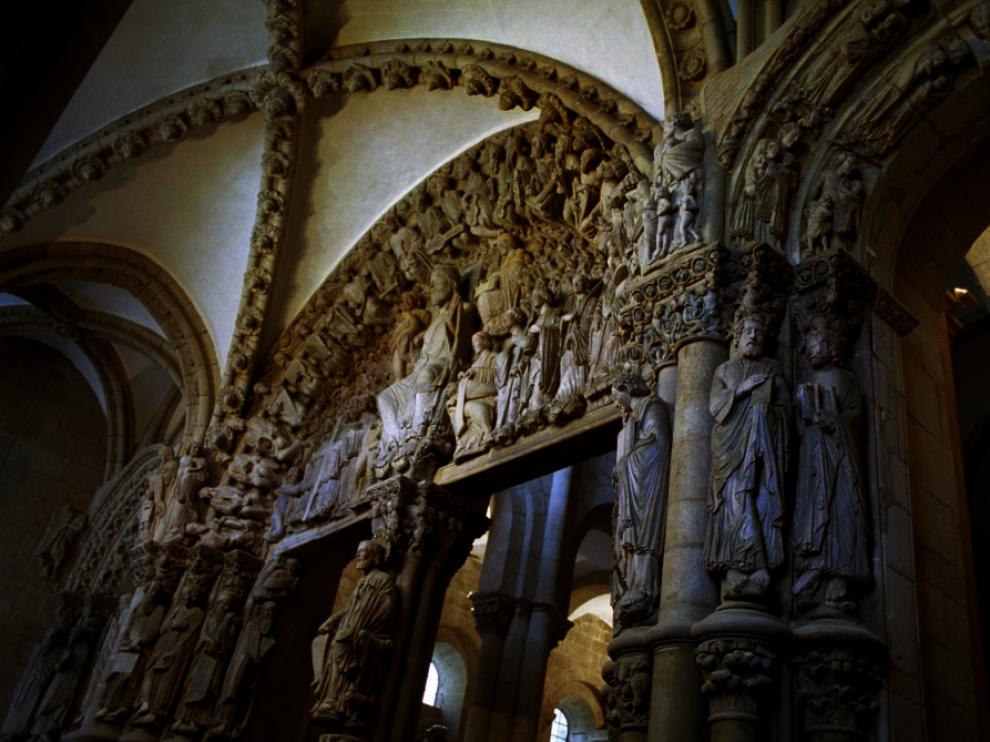 Imagen de archivo del Pórtico de la Gloria de la catedral de Santiago.