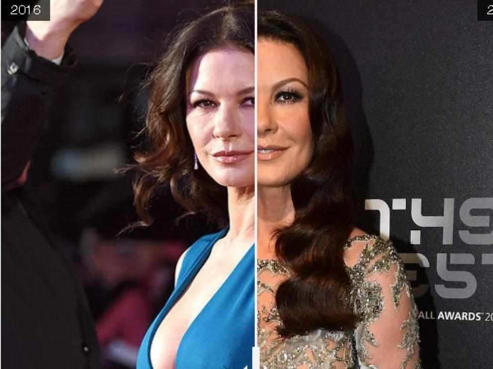 Catherine Zeta Jones, antes y después