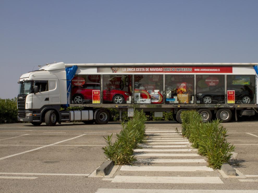 El camión se encuentra repleto de regalos valorados en 200.000 euros, libres de impuestos.