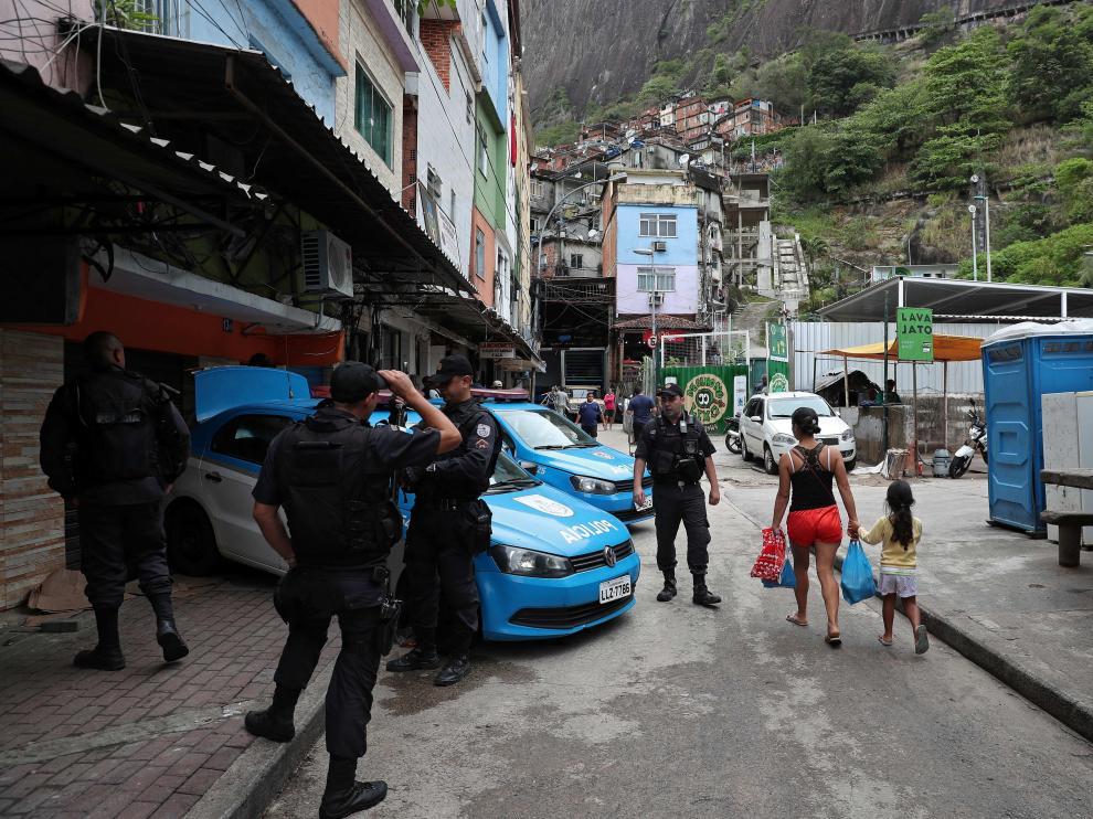 Imagen de la favela de Rocinha, en Río de Janeiro.