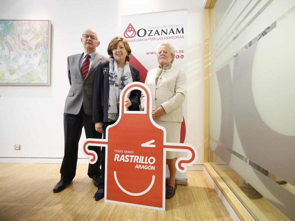 Fernando Galdámez, Pilar Enériz y Pilar Ríos han dado a conocer este miércoles los detalles del Rastrillo Ozanam