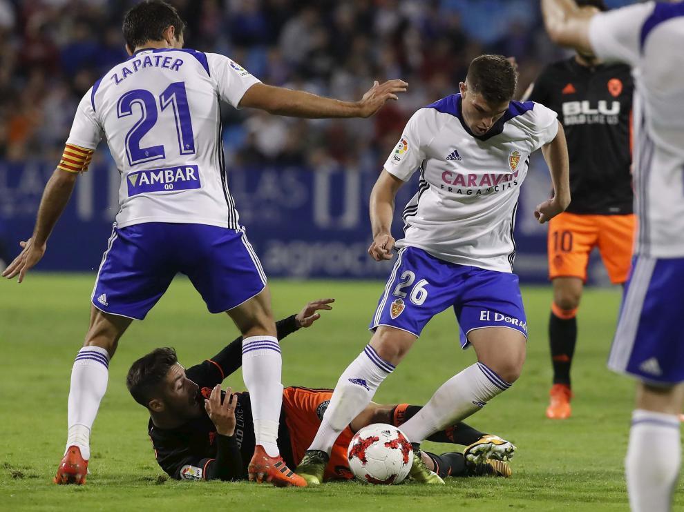 Guti fue uno de los protagonistas destacados del Zaragoza-Valencia