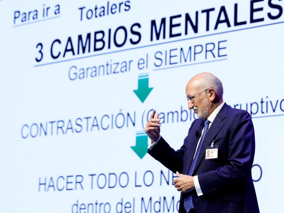 El presidente de Mercadona durante la inauguración del 32 congreso de Aecoc, en el Palacio de Congresos de Valencia.
