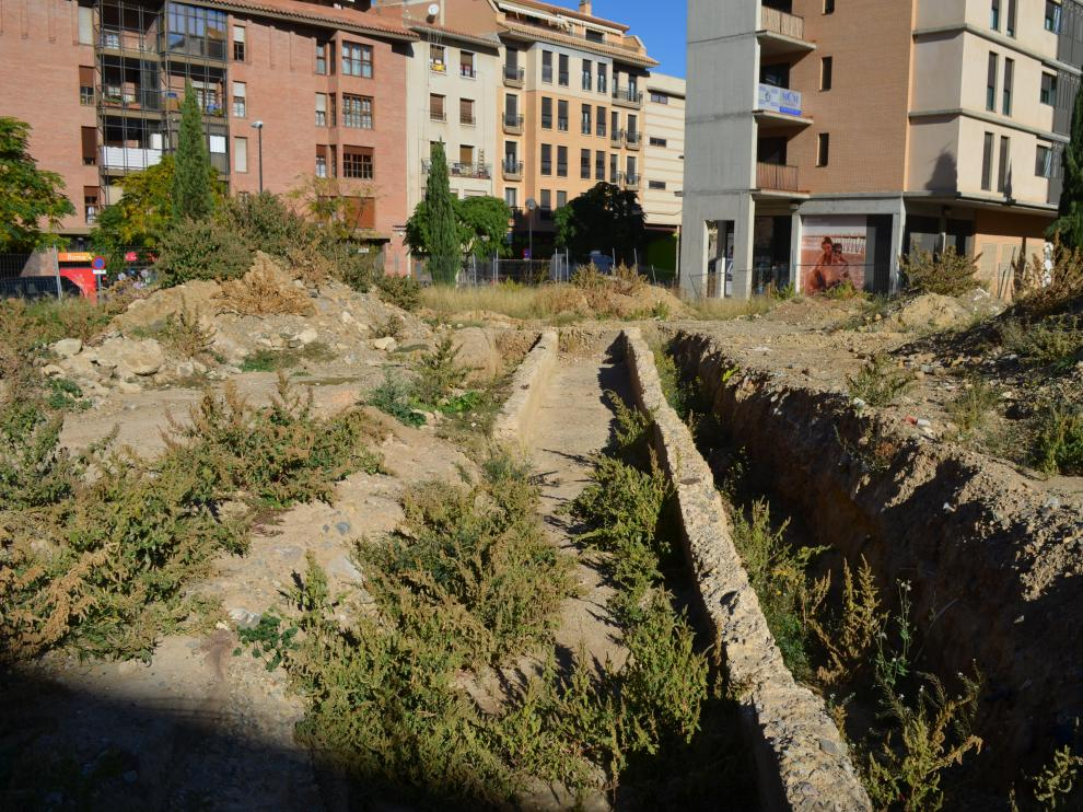 Los restos arqueológicos se encuentran en un céntrico solar de Tarazona.