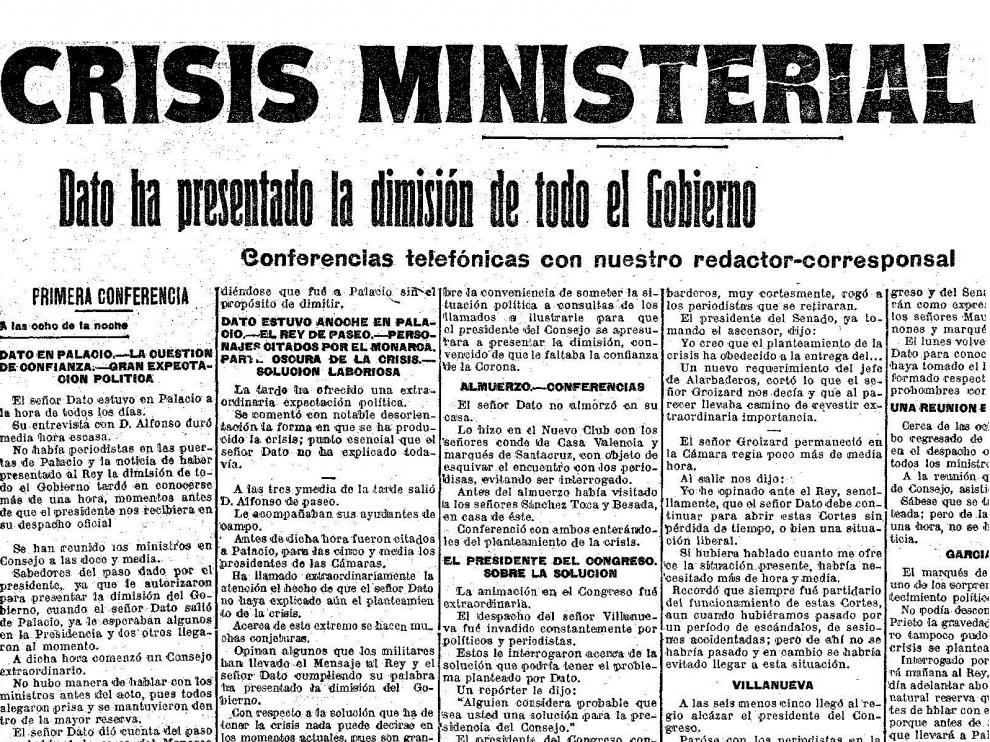 Recorte de la noticia publicada en HERALDO DE ARAGÓN