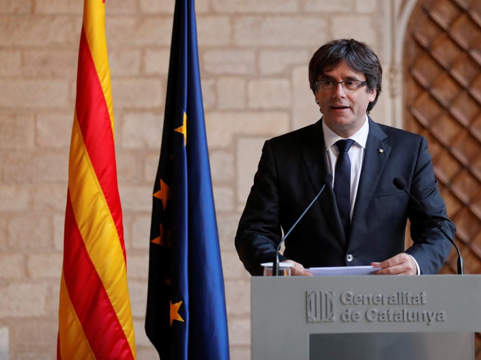 Puigdemont descarta elecciones y deja la decisión en manos del Parlament