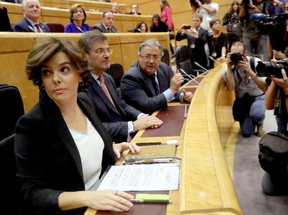 """Soraya Sáenz de Santamaría dice que los """"secesionistas traen la recesión y no la tierra prometida"""""""