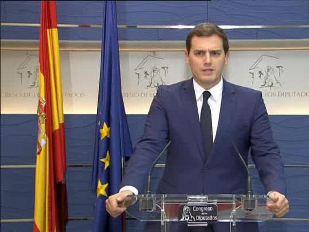 """Rivera: """"Se acabó la fuga del golpista Puigdemont"""""""
