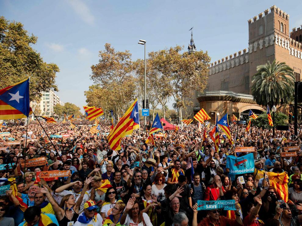 Celebración de la declaración de independencia de Cataluña