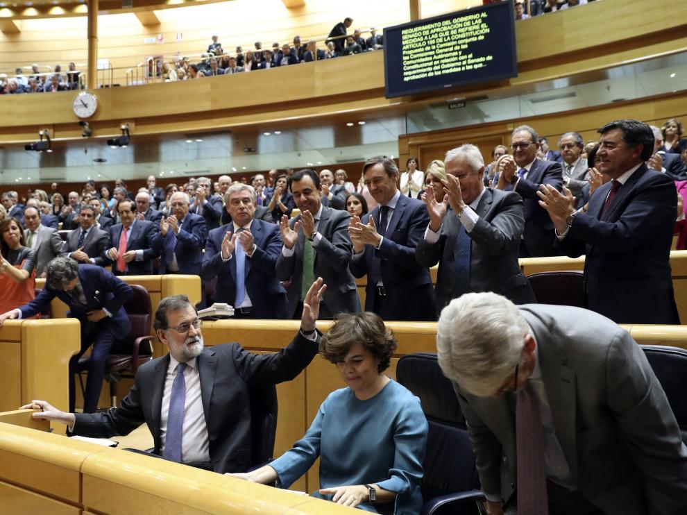 Histórica sesión en el Senado para debatir y votar el artículo 155