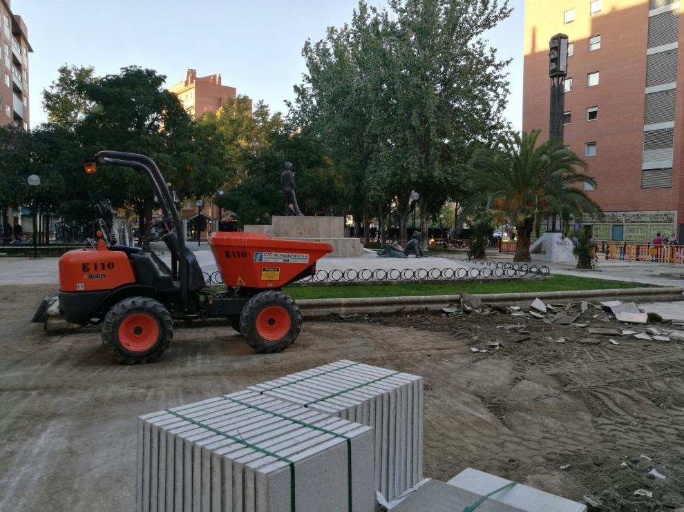 Obras en el parque de la Esperanza