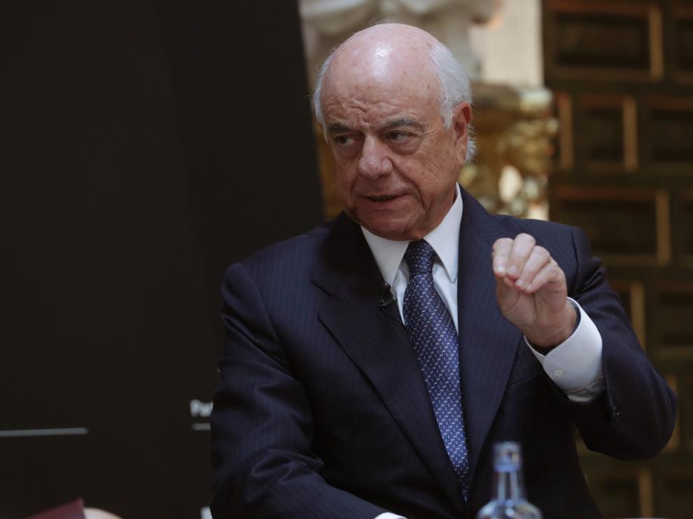 El presidente del BBVA, Francisco González, en unas jornadas sobre el futuro de España.