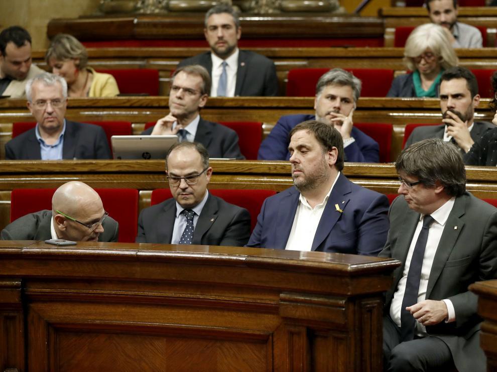 La bancada de JxSí en el Parlament