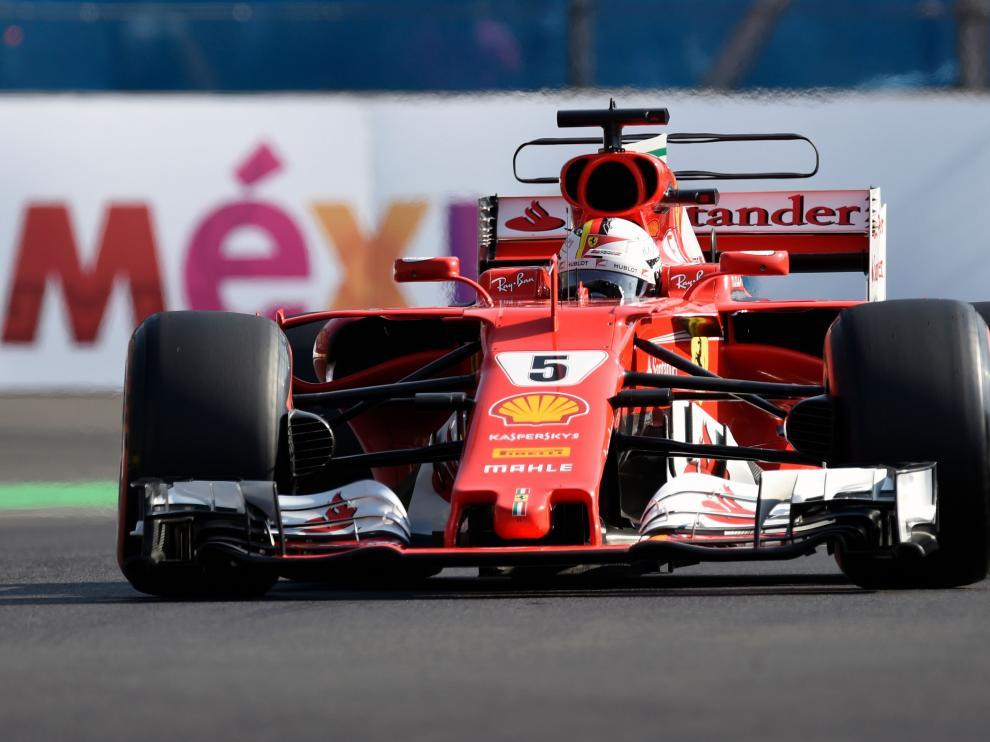 Vettel durante la clasificación del GP de México.