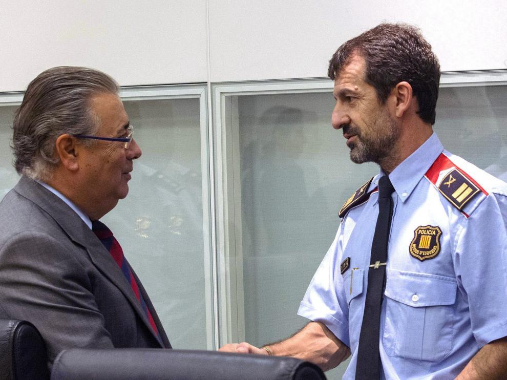 Juan Ignacio Zoido junto a Ferrán López, elegido para sustituir a Trapero tras su cese