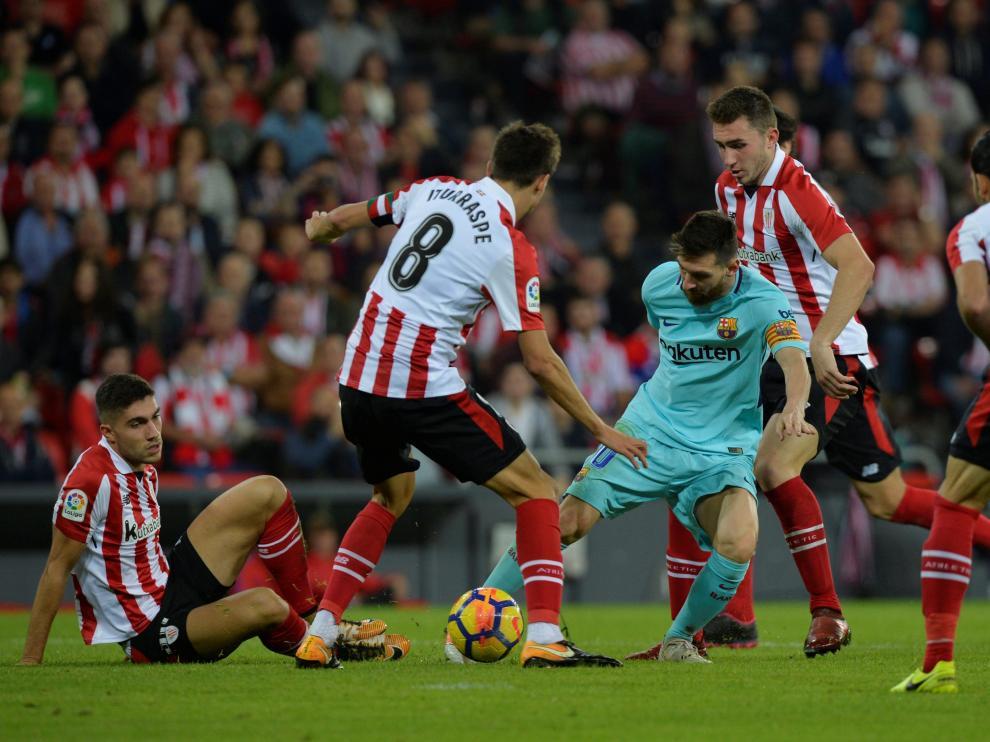 El Barcelona y Messi mantienen su idilio en San Mamés