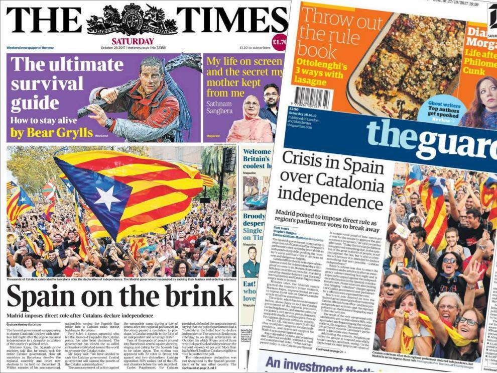 La prensa británica advierte de inestabilidad en Europa creada por Cataluña