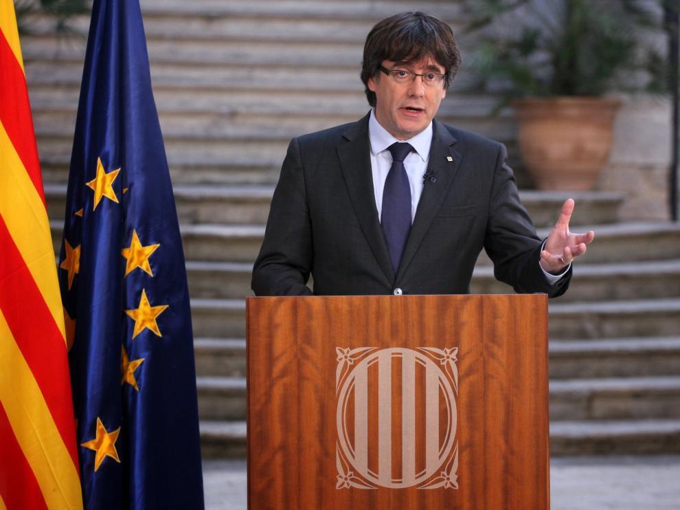 Declaración de Puigdemont en TV3