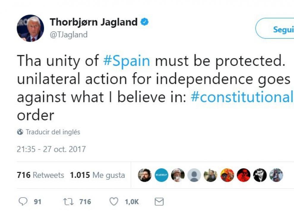 El Consejo de Europa, contra la declaración de independencia de Cataluña