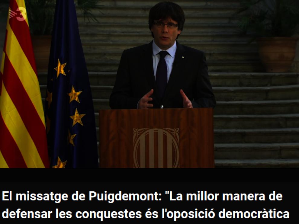 El Gobierno traslada a TV3 su queja por rotular a Puigdemont como president