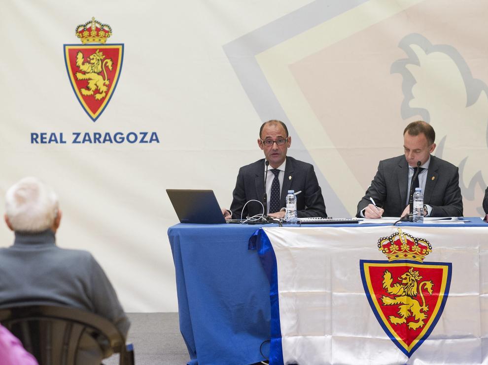 Junta General de Accionistas del Real Zaragoza del pasado mes de diciembre.
