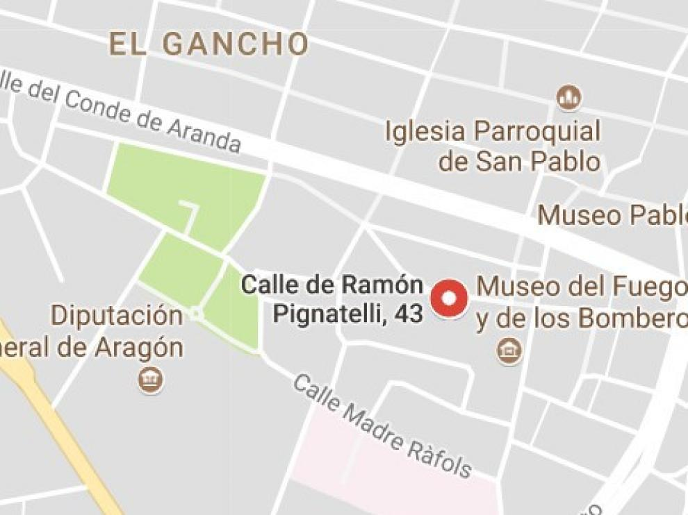 Incendio sin daños personales en un cuarto de contadores de la calle Ramón Pignatelli