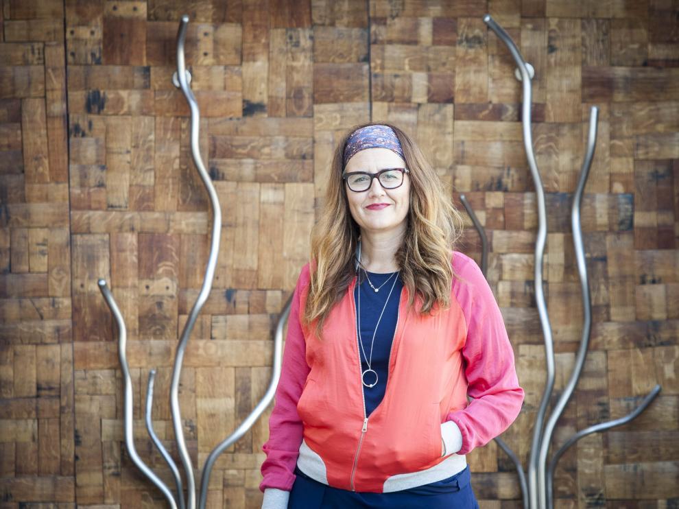 Raquel Latre, en la sede principal de la D.O. Somontano.