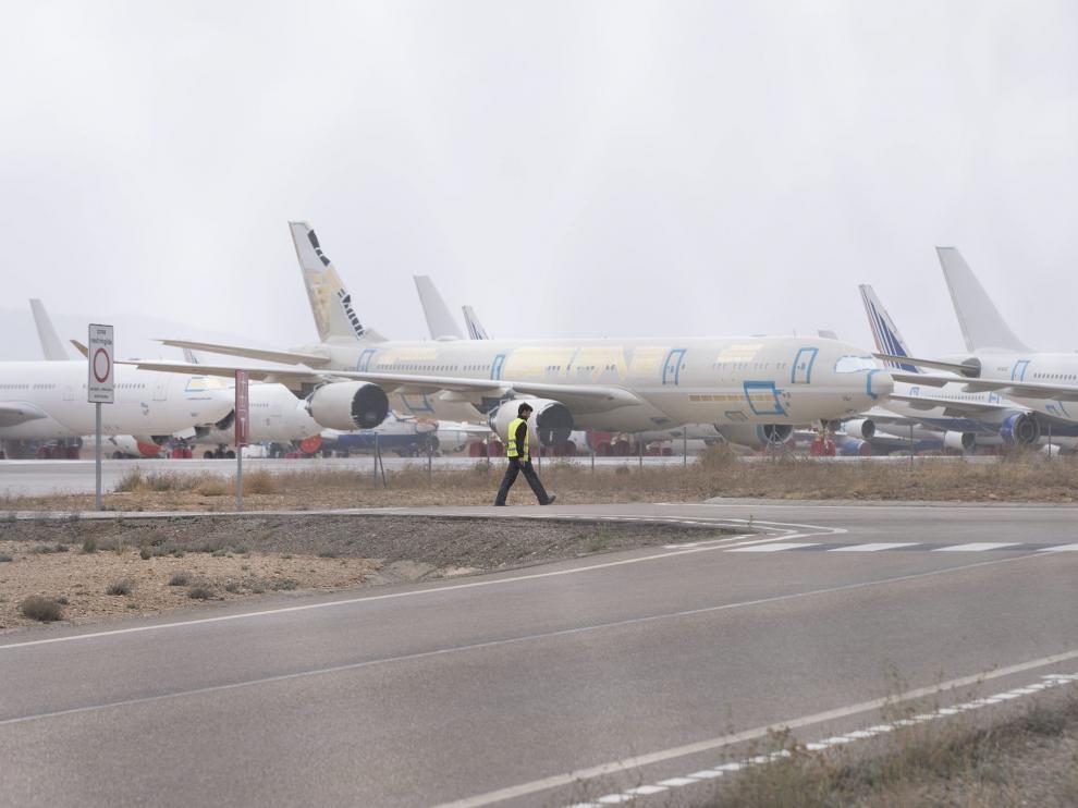 El aeropuerto de Teruel se prepara para la tercera ampliación de su campa.