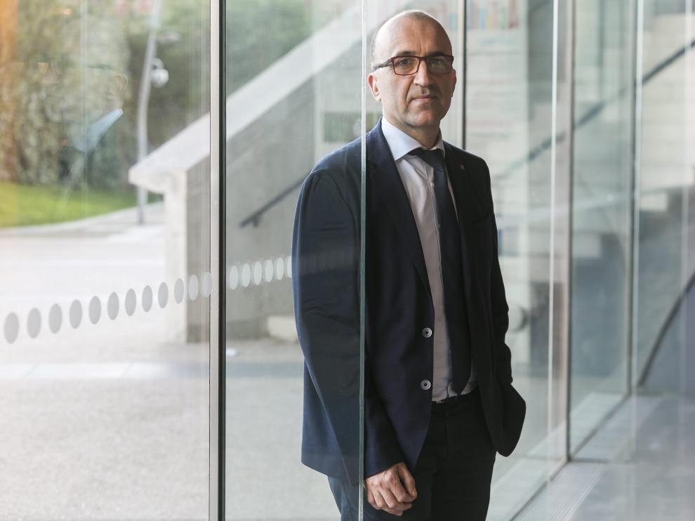 Javier Gómez, director general corporativo de la Liga, ayer, en el edificio Caixa Forum.